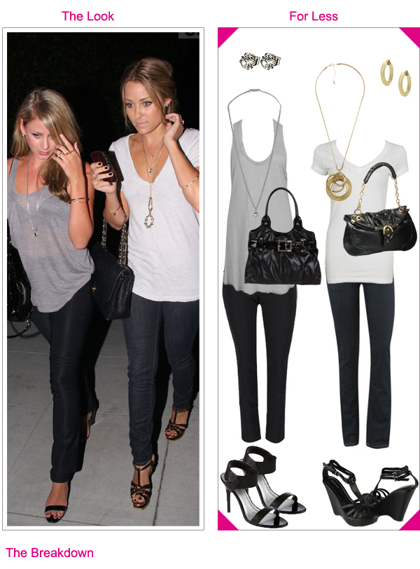 Lauren Conrad and Lo Bosworth left the Crown Lounge pulling the same style