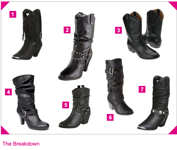 Your Personal Shopper – Black Cowgirl Boots | The Looks For Less