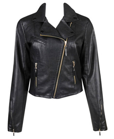 Faux Leather Moto Jacket - Get The Celebrity Look For Less